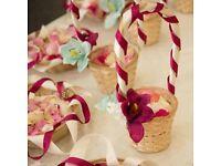 Wedding petal baskets