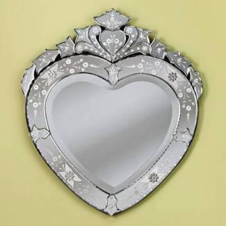 Venetian Heart Shaped Mirror