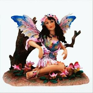 Amongst Spotted Wood Violets  Fairy / Faerie by Christine Haworth