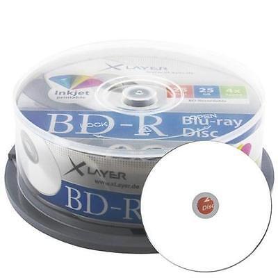 Xlayer BD-R 4x Inkjet white 50er Rohlinge Cakebox Blu-Ray Disk bedruckbar