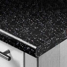 New Black Gloss Sparkle Worktop
