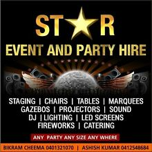Star Event & Party Hire .Free Pickup and Delivery* Seven Hills Blacktown Area Preview