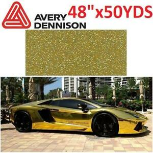 "NEW AVERY VINYL WRAPPING FILM 48"" SC900-219-M 136951375 48"" x 50 yds AUTOMOTIVE WRAP FILM METALLIC GOLD"