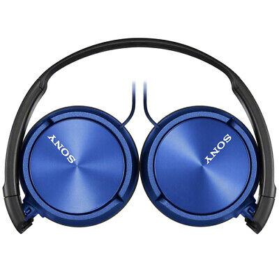 Sony MDR-ZX310AP/L ZX Headphones Headband Stereo Headset w/ Microphone - Blue