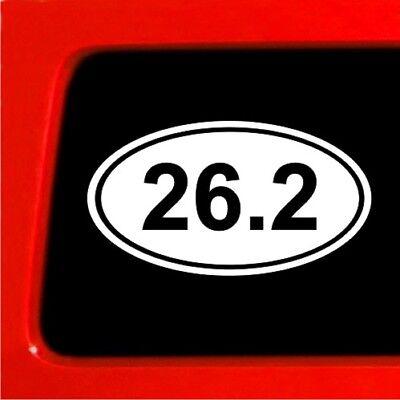 (26.2 Sticker Oval Decal Runner marathon )