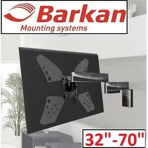 """NEW BARKAN TV WALL MOUNT 32-70"""" - 110016261 - TV MOVEMENT WALL MOUNT - UP TO 80LBS/40KG"""