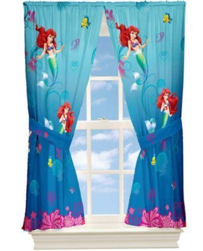 Little Mermaid Curtains Ebay