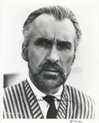 Christopher Lee Signed