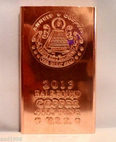 1 2 Pound Copper Bar Ebay