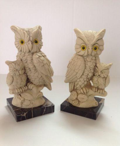 Alabaster Owls Italy Ebay