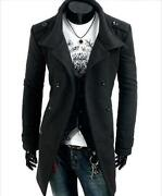Mens Slim Fit Peacoat
