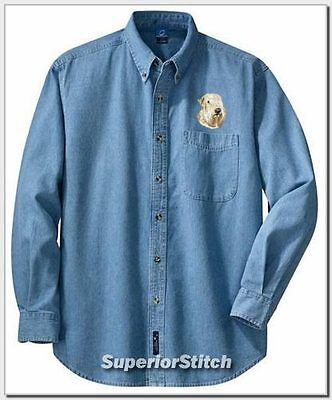 SOFT COATED WHEATEN TERRIER denim shirt XS-XL