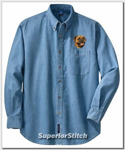 BULLMASTIFF embroidered denim shirt XS-XL