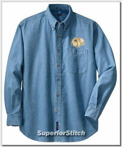 PEKINGESE embroidered denim shirt XS-XL