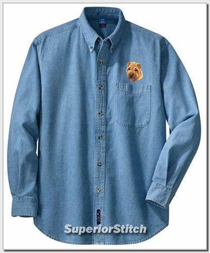 SHAR PEI embroidered denim shirt XS-XL