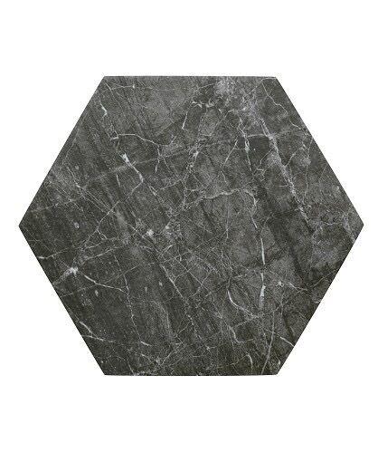 Hexagonal Porcelain Black Grey Tiles Topps Bistro