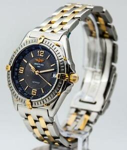 mens breitling watch mens gold breitling watch