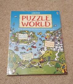 USBORNE PUZZLE WORLD CONTAINS PUZZLE ISLAND, PUZZLE TOWN AND PUZZLE FARM