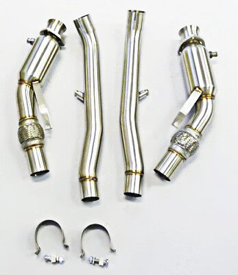 BP Stainless Downpipe For 2004 2005 2006 2007 2008 Audi S4 4.2L B6 B7 M/Trans.