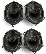 2 Pair 6x8 Car Speakers