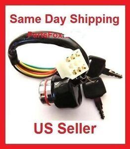 Ignition Switch Key 6 wire 50cc 70cc 90cc 110cc 150cc 250 Kazuma Meerkat Falcon