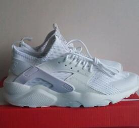 Nike air huarache ultra triple white 8.5