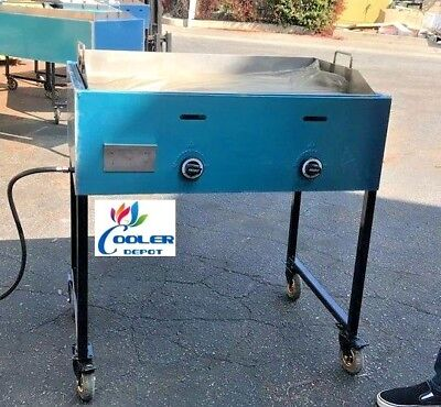 New 36 Outdoor Griddle Taco Grill Cart Propane Use Carne Asada Burgers Hot Dogs