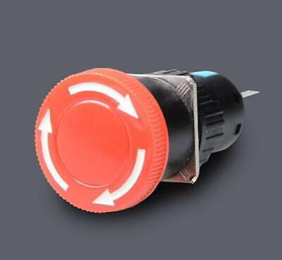 58 Hole Red Mushroom Emergency Stop Push Button Switch Dc 30v 3a Ac 250v 1a