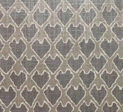 Ballard Designs Evie Pewter Gray Arrowhead Metallic Sheen Fabric By Yard 55 W