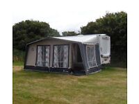 Isabella awning with fibreglass poles. Size 875.