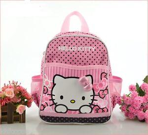 Hello Kitty Pink Shiny Bow School Rucksack Back Pack Bag K452