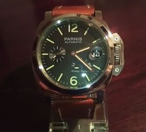Parnis 44mm Seagull 2530 Automatic Panerai look alike homage