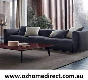 OSLO 3/4/5-SEATER FABRIC LOUNGE WITH FREE DOWN FEATHER CUSHIONS Chatswood Willoughby Area Preview