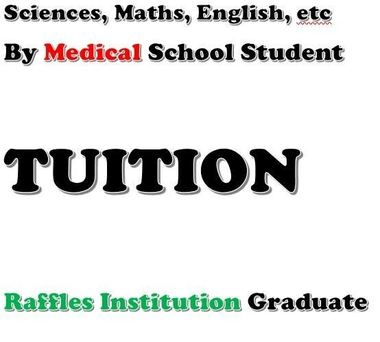 1 to 1 Private Tuition by Raffles Graduate (Chemistry, Biology, Physics)