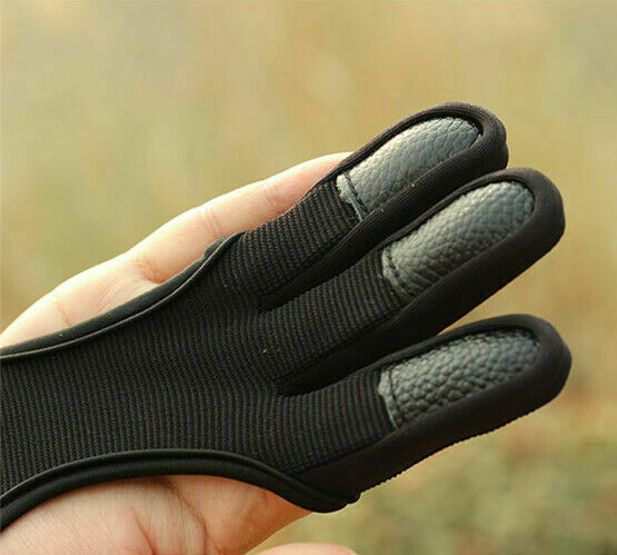 Shooting Hand Protective Fingers Slingshot Artificial Cowhide Archery Gloves