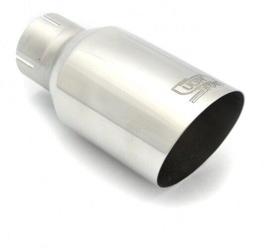 Duplex Auspuffblenden Endrohre 90mm schwarz matt rund abgeschr/ägt Auspuff Sportauspuff Optik Blende Edelstahl Anschlu/ß 65mm