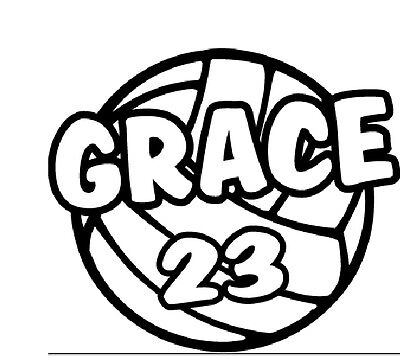 (Personalized School Team Sports Window Decal Volleyball)
