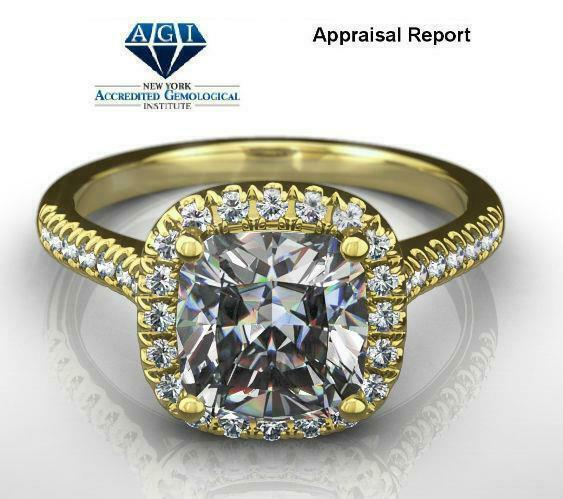 Diamond Ring Halo Natural 4 Prong Ladies 18 Kt Yellow Gold Si2 Colorless 1.56 Ct