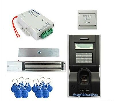 Fingerprint Rfid Access Control System Kit Setdoor Lockrfidpowerexit Button