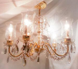 Vintage Antique Crystal Chandelier