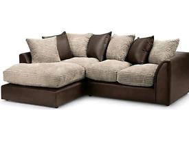 Byron Corner Sofa brown with jumbo Cambel Cushion