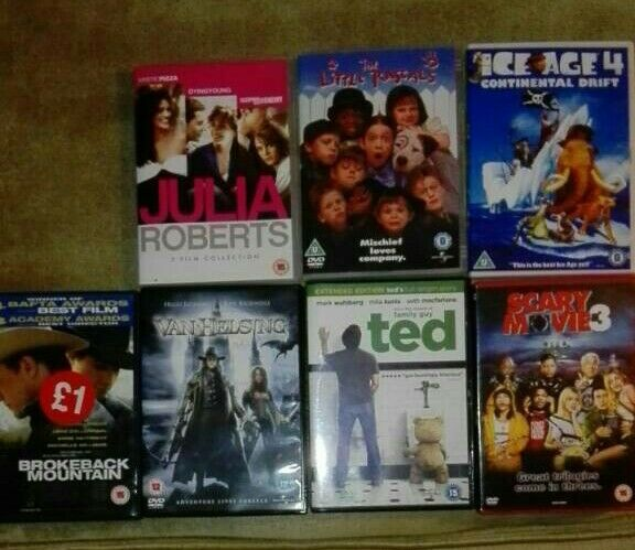 DVDs £1 each or £4 the lot