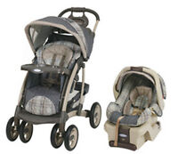 Graco travel stroller with car seat