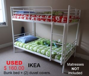 IKEA bunk bed + (2) duvet covers