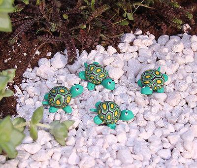 CUTE Dollhouse Miniature/Fairy Garden Set of 4 Clay Turtles #D1642-36