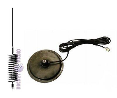 "Long Tornado Stinger CB Radio Antenna Aerial + 7 "" Turbo Magnetic Mount"