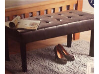 CHESTER - FAUX LEATHER BENCH