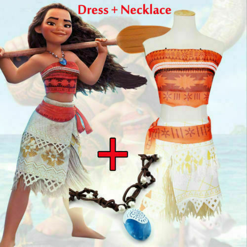 Moana Costume Polynesia Princess Skirt Dress For Women & Girl Cosplay Halloween