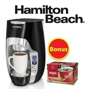NEW HB PROGRAMMABLE COFFEEMAKER HAMILTON BEACH FLEXBREW SINGLE SERVE COFFEE MAKER - BLACK 106291365