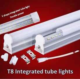 T8 LED Integrated Tube lights 1ft,2ft,3ft,4ft,5ft,6ft, complete with fitting